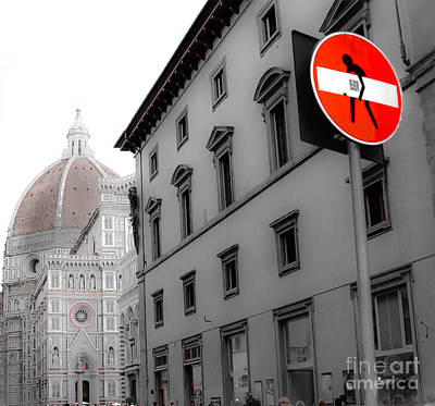 Duomo And Street Humor Art Print