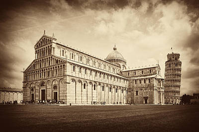 Art Print featuring the photograph Duomo And Tower by Hugh Smith