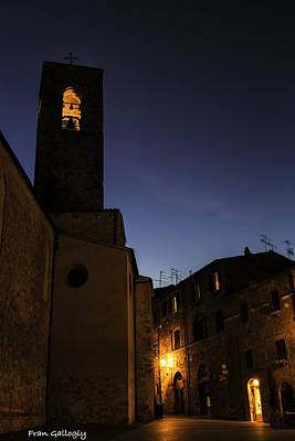 Photograph - Duomo Bell Tower At Night by Fran Gallogly