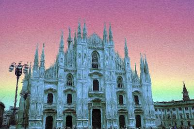 Crosses Digital Art - Duomo Di Milano by Jeffrey Kolker