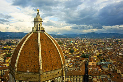 Photograph - Duomo Dome Over Florence by Pam  Elliott