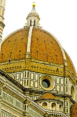 Baptistry Photograph - Duomo Florence Italy by Jon Berghoff