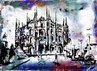 Digital Art - Duomo Milan Italy  by Ginette Callaway