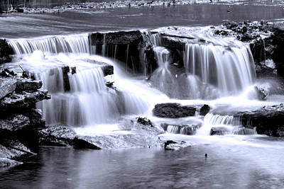 Photograph - Duotone Falls by Robert Camp