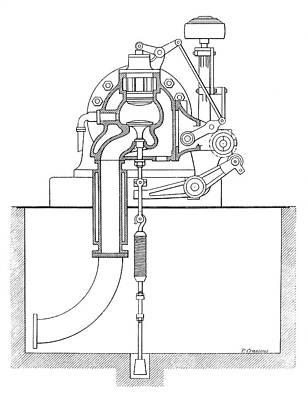 Duplex Engine Distribution Art Print