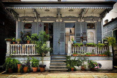 Photograph - Duplex In The French Quarter Nola Dsc05937 by Greg Kluempers