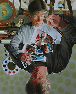 Artist Self Portrait Painting - Duplicated by Denny Bond