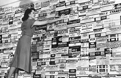 Dupont Products Label Display, 1940s Art Print by Hagley Archive