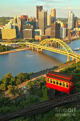 Duquesne Incline Portrait Art Print by Adam Jewell