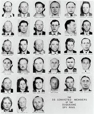 Photograph - Duquesne Spy Ring, C1941 by Granger