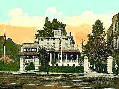Durando's Tavern In Yonkers N Y In 1915 Art Print by Dwight Goss