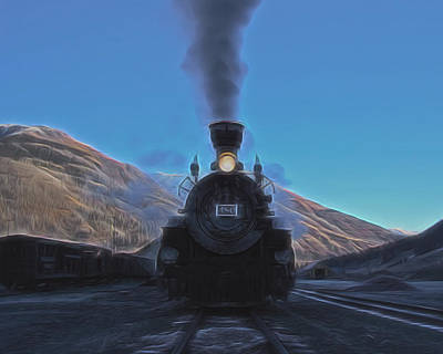 Old Town Digital Art - Durango Silverton 480 Digital Art by Ernie Echols