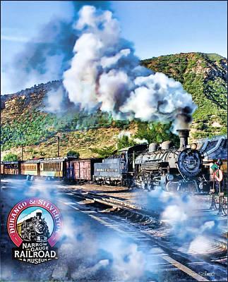 Tom Schmidt Painting - Durango Steam Locomotive by Tom Schmidt
