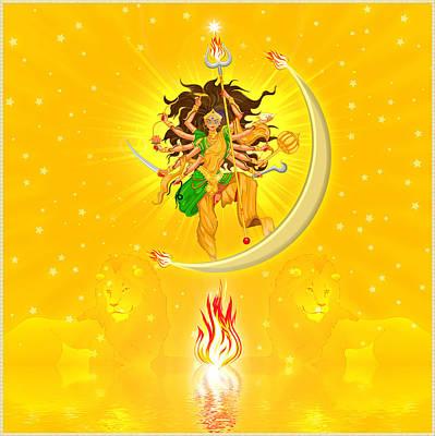 Durga Art Print