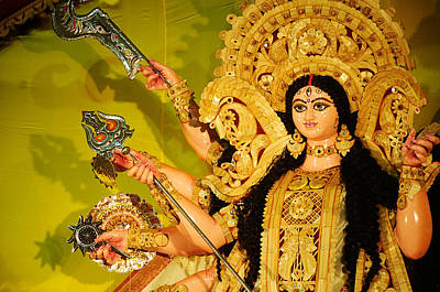 Durga Idol Art Print by Money Sharma