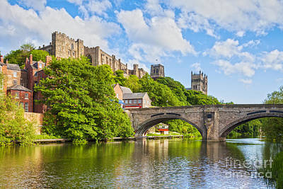 Photograph - Durham Castle And Cathedral Framwellgate Bridge England by Colin and Linda McKie
