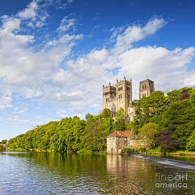 Durham Cathedral And The River Wear England Print by Colin and Linda McKie