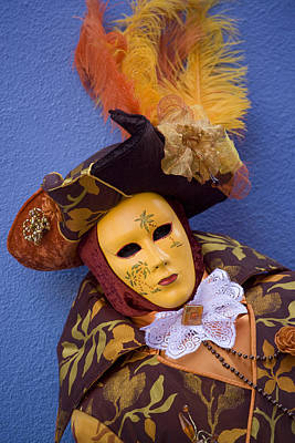 Photograph - During Carnival In Venice Italy by Indiana Zuckerman