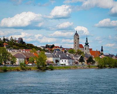 Durnstein Photograph - Durnstein Abbey On The Danube River In Austria by Lynn Langmade