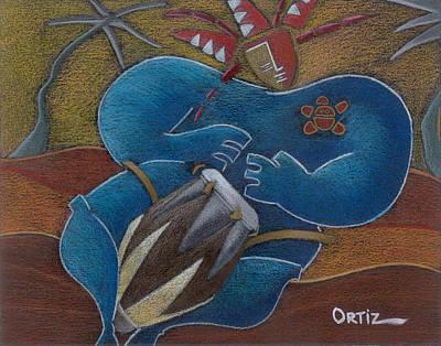 Duro A Los Cueros Art Print by Oscar Ortiz