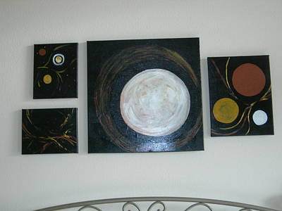 Art Print featuring the painting Decrocher La Lune by Sharyn Winters