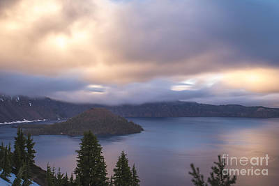 Photograph - Dusk @ Crater Lake by Theresa Ramos-DuVon