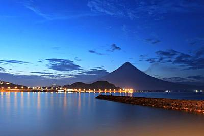 Mayon Photograph - Dusk by Abner Corpus