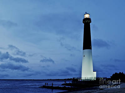 Dusk At Barnegat Lighthouse Art Print by Mark Miller