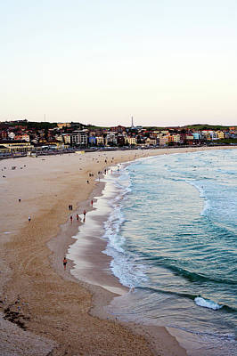 Photograph - Dusk At Bondi Beach, From South Bondi by Oliver Strewe