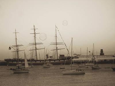 Art Print featuring the photograph Dusk At Fishermans Wharf by Hiroko Sakai