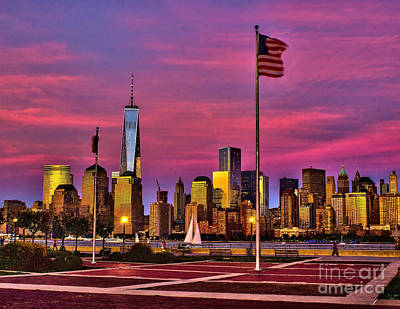 Wtc Sunsets Photograph - Dusk At Liberty State Park by Nick Zelinsky
