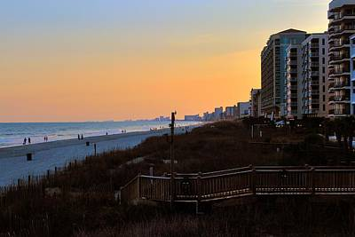 Photograph - Dusk At North Myrtle Beach by Jim Vance