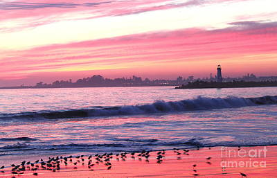 Photograph - Dusk At Santa Cruz Harbor by Theresa Ramos-DuVon