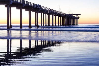 Dusk At Scripps Pier Art Print