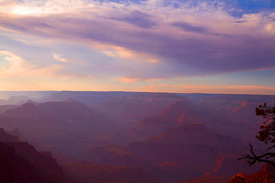 Photograph - Dusk At The Grand Canyon by Tom Kelly