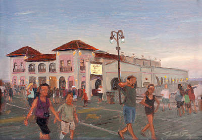 Dusk At The Ocean City Music Pier Art Print by Jamie Pogue