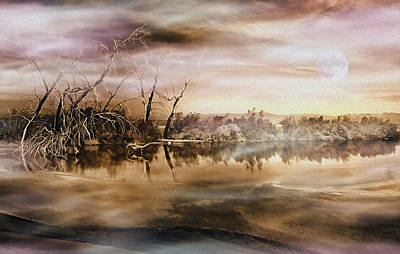 Dusk At The Pond Art Print