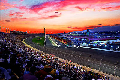 Dusk At The Racetrack Art Print