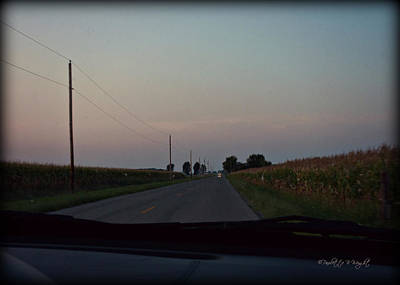 Photograph - Dusk Between The Corn Stalks by Paulette B Wright