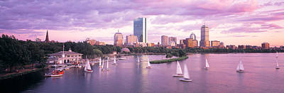Boston Ma Photograph - Dusk Boston Ma by Panoramic Images