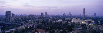 Mosque Photograph - Dusk Cairo Gezira Island Egypt by Panoramic Images