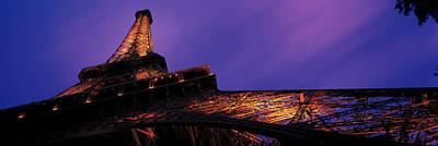 Dusk Eiffel Tower Paris France Art Print by Panoramic Images