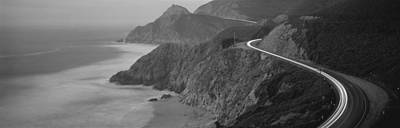 Coast Hwy Ca Photograph - Dusk Highway 1 Pacific Coast Ca Usa by Panoramic Images
