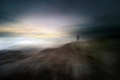 Figure Photograph - Dusk In Nowhere by Santiago Pascual Buye