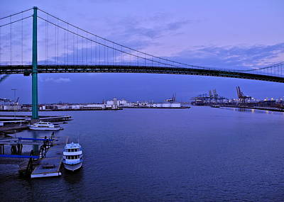 Photograph - Dusk In The Port Of Los Angeles by Kirsten Giving