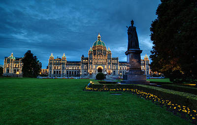 Dusk In Victoria Art Print by Mike Reid