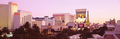 Dusk Las Vegas Nv Art Print by Panoramic Images