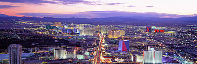 The Strip Photograph - Dusk Las Vegas Nv Usa by Panoramic Images