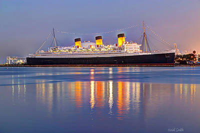 Photograph - Dusk Light On The Queen Mary by Heidi Smith