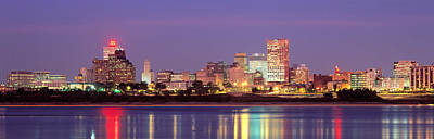 Dusk, Memphis, Tennessee, Usa Art Print by Panoramic Images